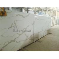 Quality Calacatta Gold Colour Quartz Slabs Marble Pattern Looking Countertops for sale