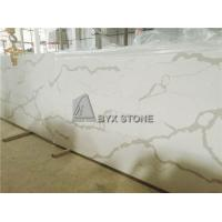 Quality White Quartz Solid Surface Slabs for Bathroom Countertops and Kitchen Worktops for sale