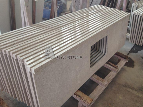 Buy Cream Colored Beige Quartz Slabs with Solid Surface for Countertops Worktops at wholesale prices