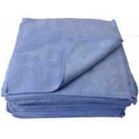 50 Pk - Eurow Microfiber Premium 12 x 12 350 GSM Cleaning Towels Blue