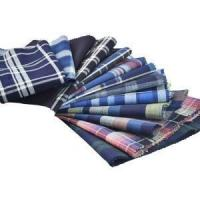 Quality Solid Indigo Plaid Fabrics for sale