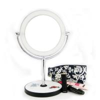 Quality Vanity lighted makeup mirror with magnification 1X/10X for sale