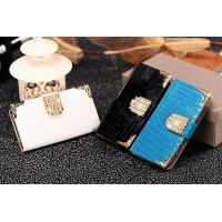 IPhone5s bracket gold buckle leather phone Case