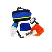 Quality 6pcs car wash cleaning Combination kit in blue bag for sale