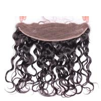 Ear to ear 13*4 Lace Frontal Closure Natural Wave Human hair medium brown Swiss lace