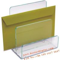 Quality Custom design Plexiglass PMMA acrylic desk file organizer for sale