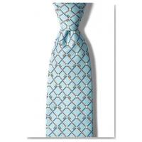 "Quality Apparel ""Real Dentists Wear Plaid"" Blue and White Silk Necktie for sale"
