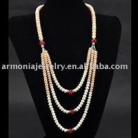 """Colors of Autumn Gold and Winter Raspberry! 32"""" Silk Flower Freshwater Pearl Necklace PJNL1692"""