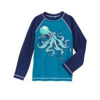 Buy cheap KIDS SWIMSUITS Boy's octopus Rashguard long-sleeve top from wholesalers
