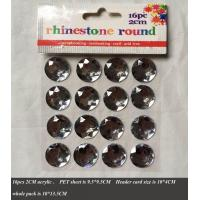 Buy cheap Paper items Selfadhesive diamante, rhienstone sticker from wholesalers