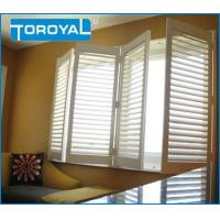 China Interior Window Shutters Tilt Rod Waterproof Fauxwood Durable Design Blinds Louver with Aluminum on sale