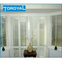 Quality Seaview Room Lead Free Security Window Blinds Interior Residential Shutters Bay PVC Window Shutters for sale