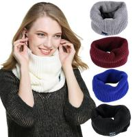 China Wireless BT Knitted Neck Warmer Scarf with Stereo Speakers Hands Free Phone Call Answer on sale
