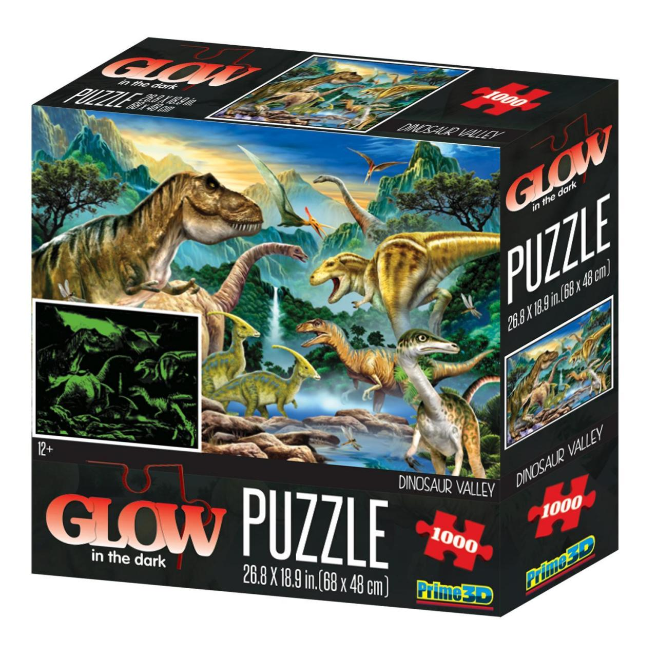 Everyday Gifts Dinosaur Valley Design Glow in the Dark 3D Adult Puzzle