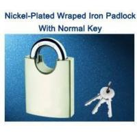 Nickel-Plated Wraped Iron Padlock With Normal Key