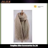 Quality Promotional Fashion Custom 100% Acrylic Knitted Pashmina Simple Scarf for Women for sale