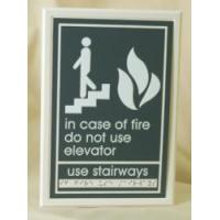 "Custom Signs A.D.A. In Case of Fire Use Stair Sign (9""h x 6""w Customizable)"