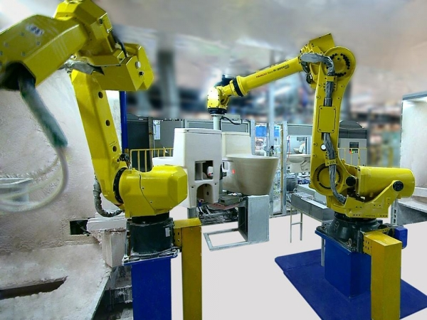 Buy High-pressure Casting Uni ROBOT GLAZING WORKING STATION at wholesale prices