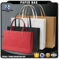 2017 hot new products custom shopping packaging flat handle kraft paper bags for shopping