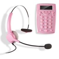 Best AGPtek Call Center Dialpad Corded Headset Pink Telephone with Tone Dial Key Pad & REDIAL wholesale