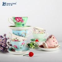 Best Cup and Saucer Pretty design ceramic fine bone china coffee cups and saucers with rural style wholesale