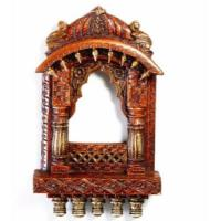 Aapno Rajasthan Rustic Window Jharoka With Carved Accents Showpiece - 30.48 cm