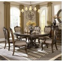 legance 1935-76 Round Oval 5 Pc Pedestal Dining Set in Cherry