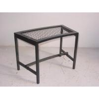 China Black Mesh Patio Fire Pit Bench on sale