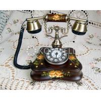 Telephone with painted flowers K18h