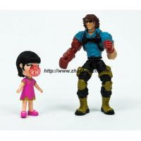 Plastic toy strong man with moveable parts figure,cute girl moveable figure