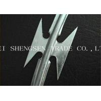 Hot Dipped Galvanized Razor Blade Barbed Wire SS - 02 304 / 304L Concertina