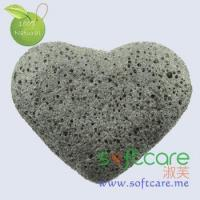 Softcare heart shape facial cleansing Konjac sponge