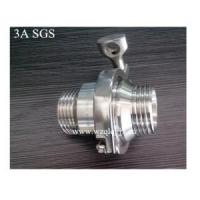 Quality Sanitary Stainless Steel Male Threaded Check Valve for sale