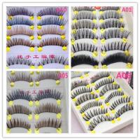 Best Real Mink Lashes Handmade 3D Mink Thick Style Articial Eyelashes Customer Logo wholesale