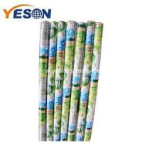 Quality bright color conspicuous floor broom wooden stick for sale