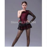 Quality Costume Collection Product name:Black Red Lace Latin Dress LAT12 for sale