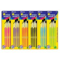 Quality Arts & Crafts BAZIC Asst. Size Paint Brush Set (5/Pack) $ 2.59 for sale