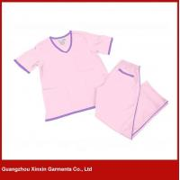 Fashion design Light blue or pink or white Polyester cotton Nurse hospital uniforms(H18)