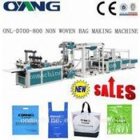 Quality eco pp non woven bag making machine / machinery with hydraulic punching device for sale