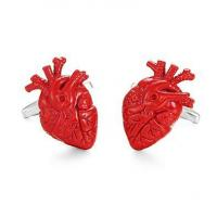 Quality Anatomical heart enamel Cufflinks for sale