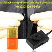 Buy cheap Mini Spy Covert Shirt Button Camera Super 2 Meter Line USB Cable Video Recorder from wholesalers