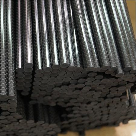 China 3K Pultruded UnidirectionalCarbon Fiber Rods