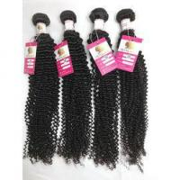 Quality Peruvian Virgin Kinky Curl Hair Weave Double Wefted Human Hair Extensions Tangle Free Hair #96482 for sale