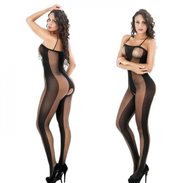 China sheer tights Crotchless Nylon Body Stocking