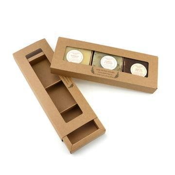 Buy Recycled Empty Brown Kraft Soap Box Window at wholesale prices