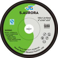 Buy cheap Free Sample T41 4 Green Color WA54 105*1.2*16mm Cutting Disc Size from wholesalers