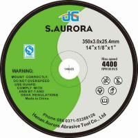 Buy cheap 14 Inches High Quality Fiber Flat Abrasive Cutting Disc for Stainless Steel Chinese Supplier from wholesalers