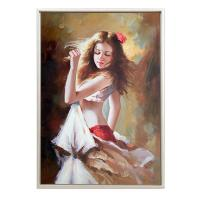Quality Dancing Girl Wall Hanging Framed Canvas Print Painting With Outer Frame for sale