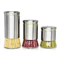 Buy cheap Kitchenware Stainless steel and glass storage jars from wholesalers