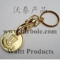 Quality Gold Trolley Coin Keychains, Gold Trolley Coin Keyring for sale
